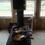 The school room wood stove