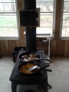 The school room wood stove