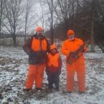 Grandpa, Dad and Roo hunting
