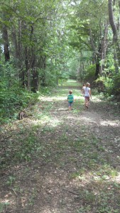 We take lots of walks
