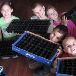 Getting ready to plant seeds together